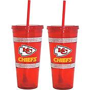 Boelter Kansas City Chiefs Bling 22oz Straw Tumbler 2-Pack