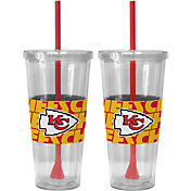 Boelter Kansas City Chiefs Bold Sleeved 22oz Straw Tumbler 2-Pack