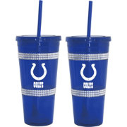 Boelter Indianapolis Colts Bling 22oz Straw Tumbler 2-Pack