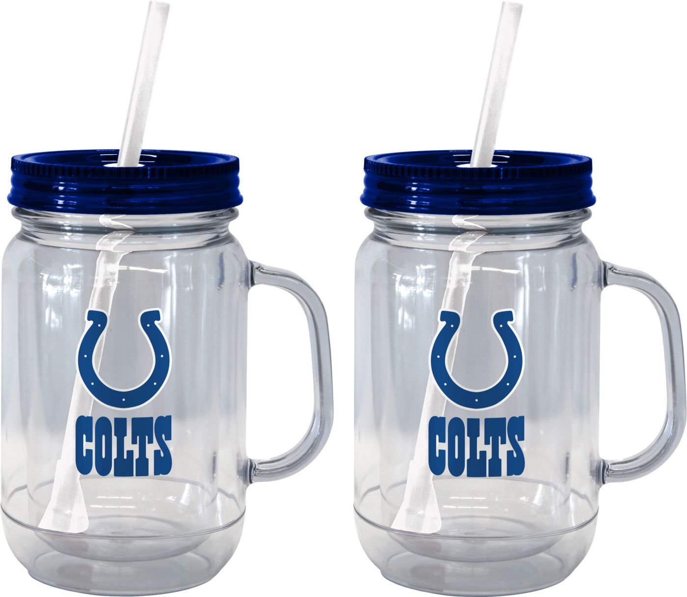 Boelter Indianapolis Colts 20oz Handled Straw Tumbler 2-Pack