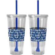 Boelter Indianapolis Colts Bold Sleeved 22oz Straw Tumbler 2-Pack