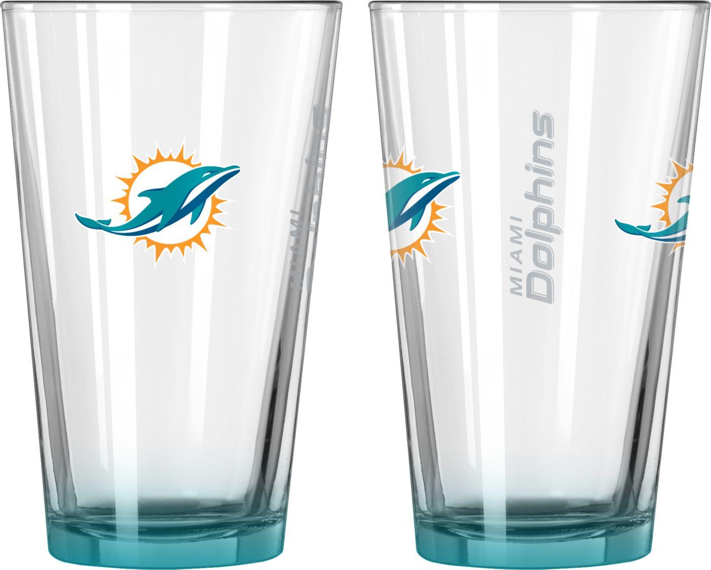 Boelter Miami Dolphins 16oz Elite Pint 2-Pack