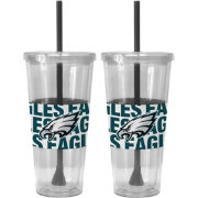 Boelter Philadelphia Eagles Bold Sleeved 22oz Straw Tumbler 2-Pack