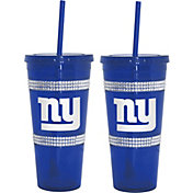 Boelter New York Giants Bling 22oz Straw Tumbler 2-Pack