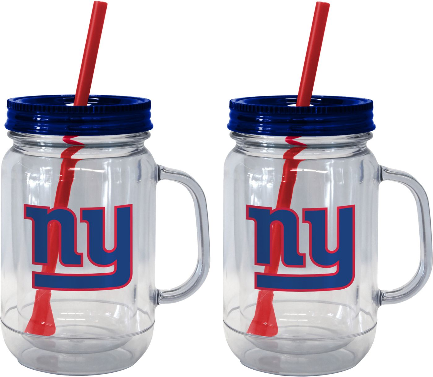 Boelter New York Giants 20oz Handled Straw Tumbler 2-Pack
