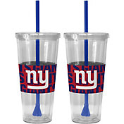 Boelter New York Giants Bold Sleeved 22oz Straw Tumbler 2-Pack