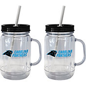 Boelter Carolina Panthers 20oz Handled Straw Tumbler 2-Pack