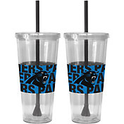 Boelter Carolina Panthers Bold Sleeved 22oz Straw Tumbler 2-Pack