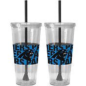 Boelter Carolina Panthers Bold Sleeved 22oz Straw Tumbler 2-Pack
