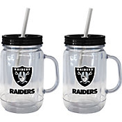 Boelter Las Vegas Raiders 20oz Handled Straw Tumbler 2-Pack