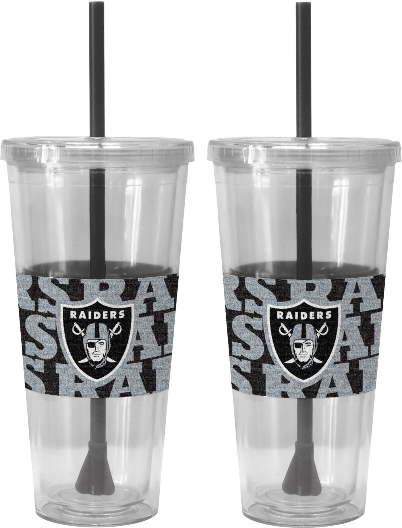 Boelter Oakland Raiders Bold Sleeved 22oz Straw Tumbler 2-Pack