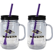 Boelter Baltimore Ravens 20oz Handled Straw Tumbler 2-Pack