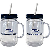 Boelter Seattle Seahawks 20oz Handled Straw Tumbler 2-Pack
