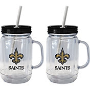 Boelter New Orleans Saints 20oz Handled Straw Tumbler 2-Pack