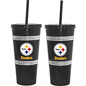 Boelter Pittsburgh Steelers Bling 22oz Straw Tumbler 2-Pack