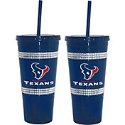 Boelter Houston Texans Bling 22oz Straw Tumbler 2-Pack