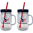 Boelter Houston Texans 20oz Handled Straw Tumbler 2-Pack