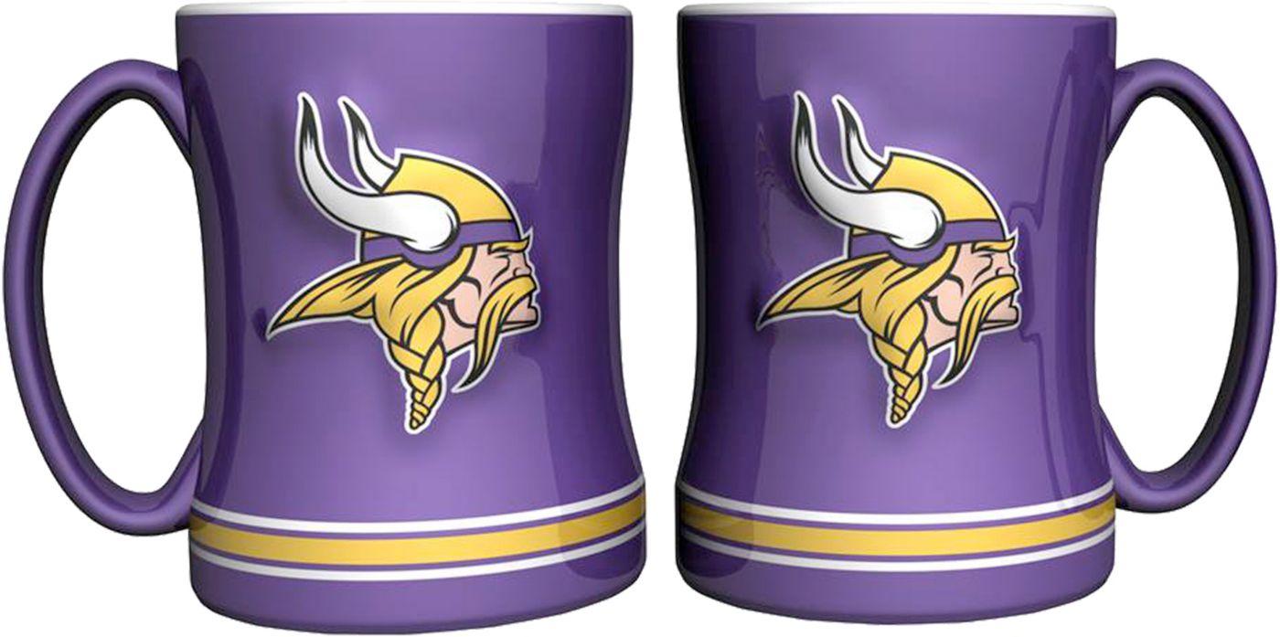 Boelter Minnesota Vikings Relief 14oz Coffee Mug 2-Pack