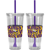Boelter Minnesota Vikings Bold Sleeved 22oz Straw Tumbler 2-Pack