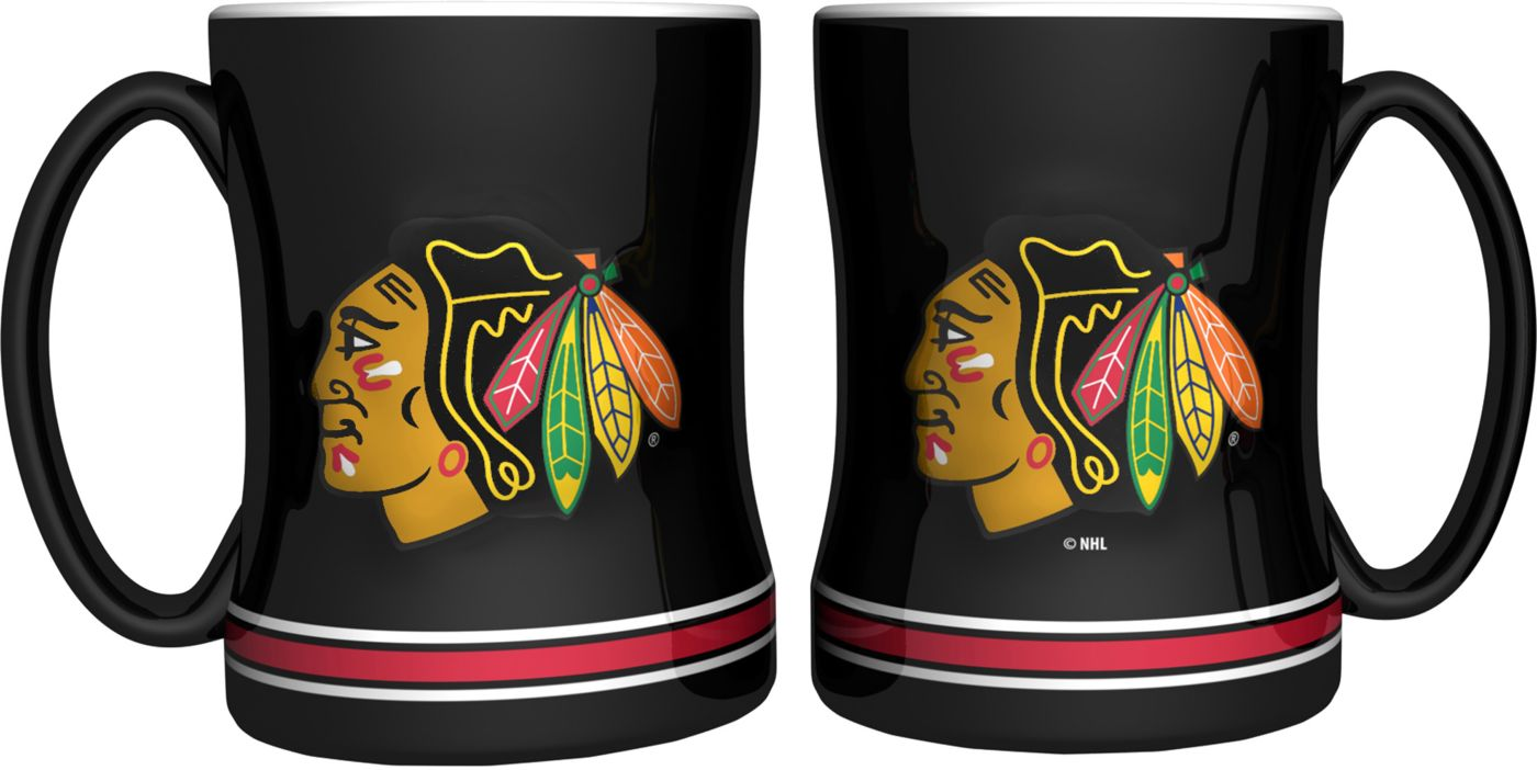 Boelter Chicago Blackhawks Relief 14oz Coffee Mug 2-Pack