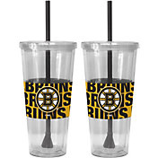 Boelter Boston Bruins Bold Sleeved 22oz Straw Tumbler 2-Pack