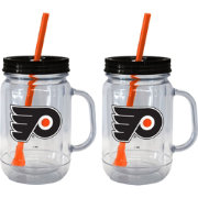 Boelter Philadelphia Flyers 20oz Handled Straw Tumbler 2-Pack