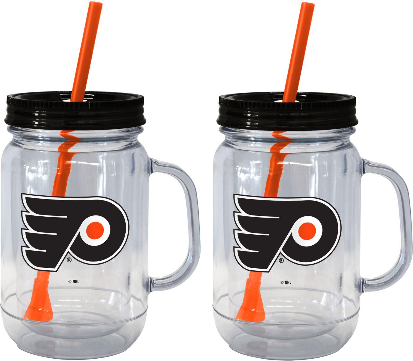 Boelter Philadelphia Flyers 20oz Handled Straw Tumbler 2-Pack