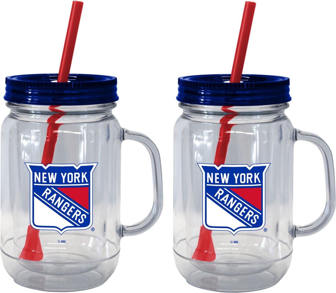 Boelter New York Rangers 20oz Handled Straw Tumbler 2-Pack