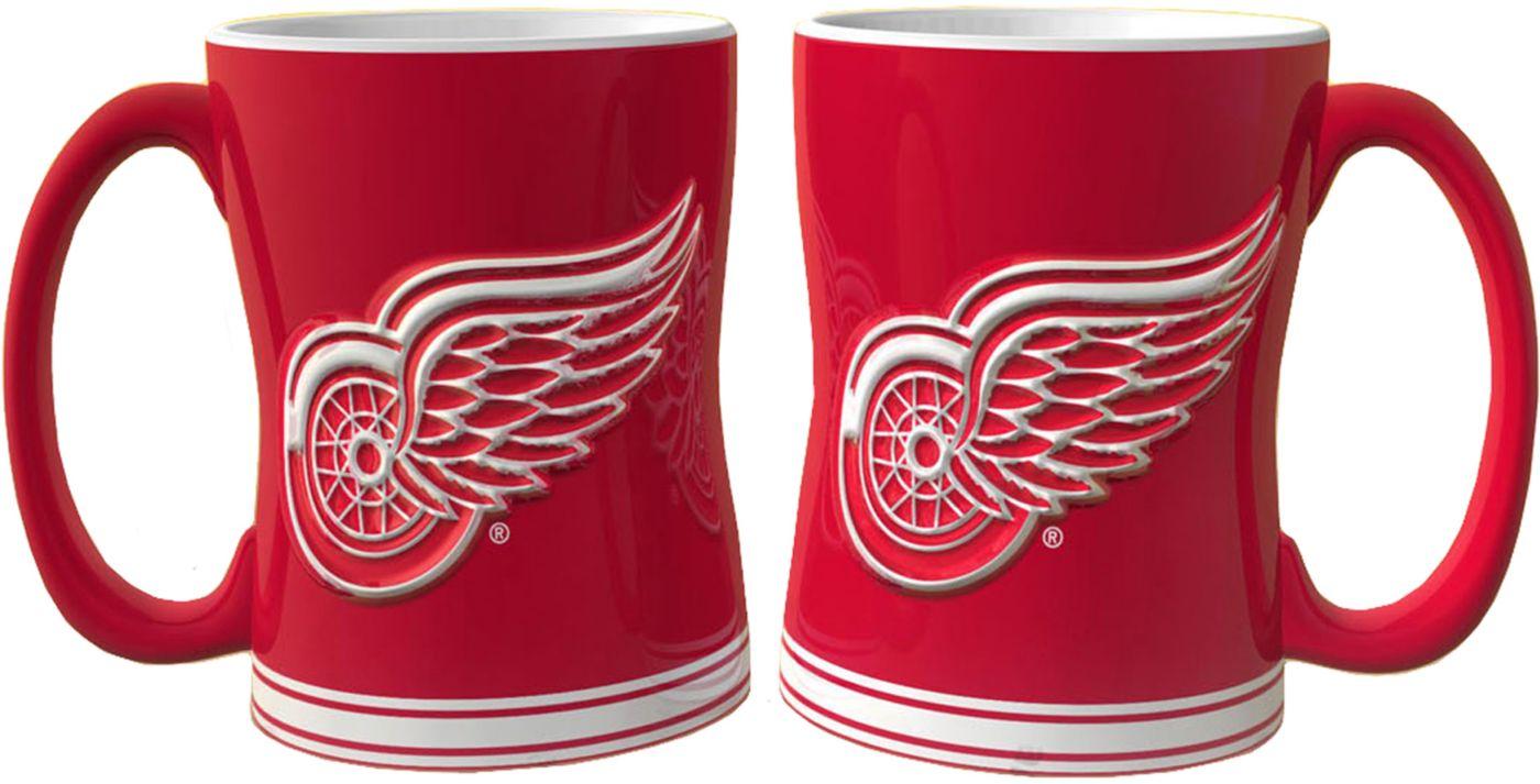 Boelter Detroit Red Wings Relief 14oz Coffee Mug 2-Pack