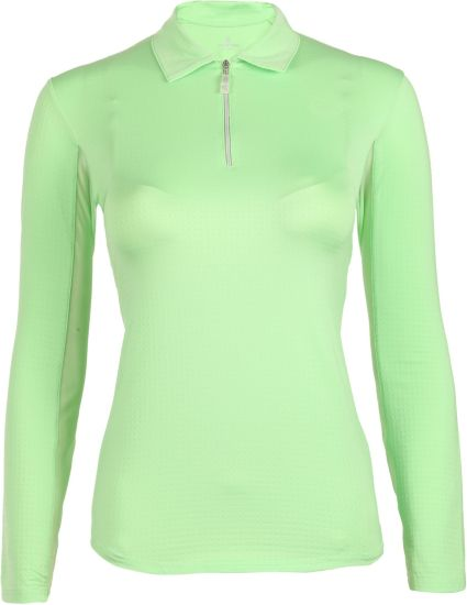 Bette & Court Women's Cool Elements Mesh Long Sleeve Polo