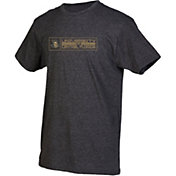 boxercraft Men's UCF Knights Grey Just for You Crew Block Wordmark and Logo T-Shirt
