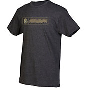 boxercraft Men's James Madison Dukes Grey Just for You Crew Block Wordmark and Logo T-Shirt