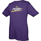 boxercraft Men's James Madison Dukes Purple Just for You Crew Wordmark and Logo T-Shirt