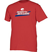 boxercraft Men's South Alabama Jaguars Red Just for You Crew Wordmark and Logo T-Shirt