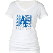 boxercraft Women's Air Force Falcons Perfect Fit V-Neck White T-Shirt