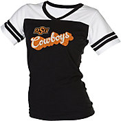 boxercraft Women's Oklahoma State Cowboys Black/White Powder Puff T-Shirt
