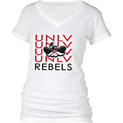 boxercraft Women's UNLV Rebels Perfect Fit V-Neck White T-Shirt