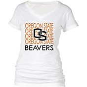 boxercraft Women's Oregon State Beavers Perfect Fit V-Neck White T-Shirt