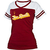 boxercraft Women's Arizona State Sun Devils Maroon/White Powder Puff T-Shirt
