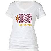 boxercraft Women's Arizona State Sun Devils Perfect Fit V-Neck White T-Shirt