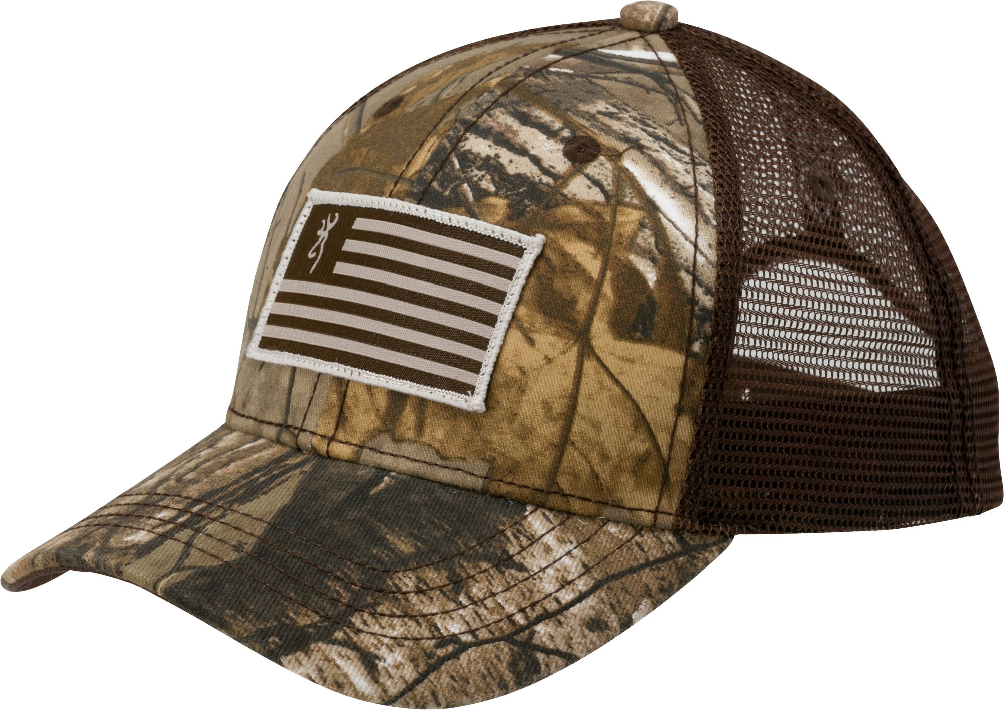 a68d14cad0ace discount browning mens embroidered trucker hat brown hi res 73960 608fd   new zealand browning mens patriot mesh back camo hat ed9f2 9b694