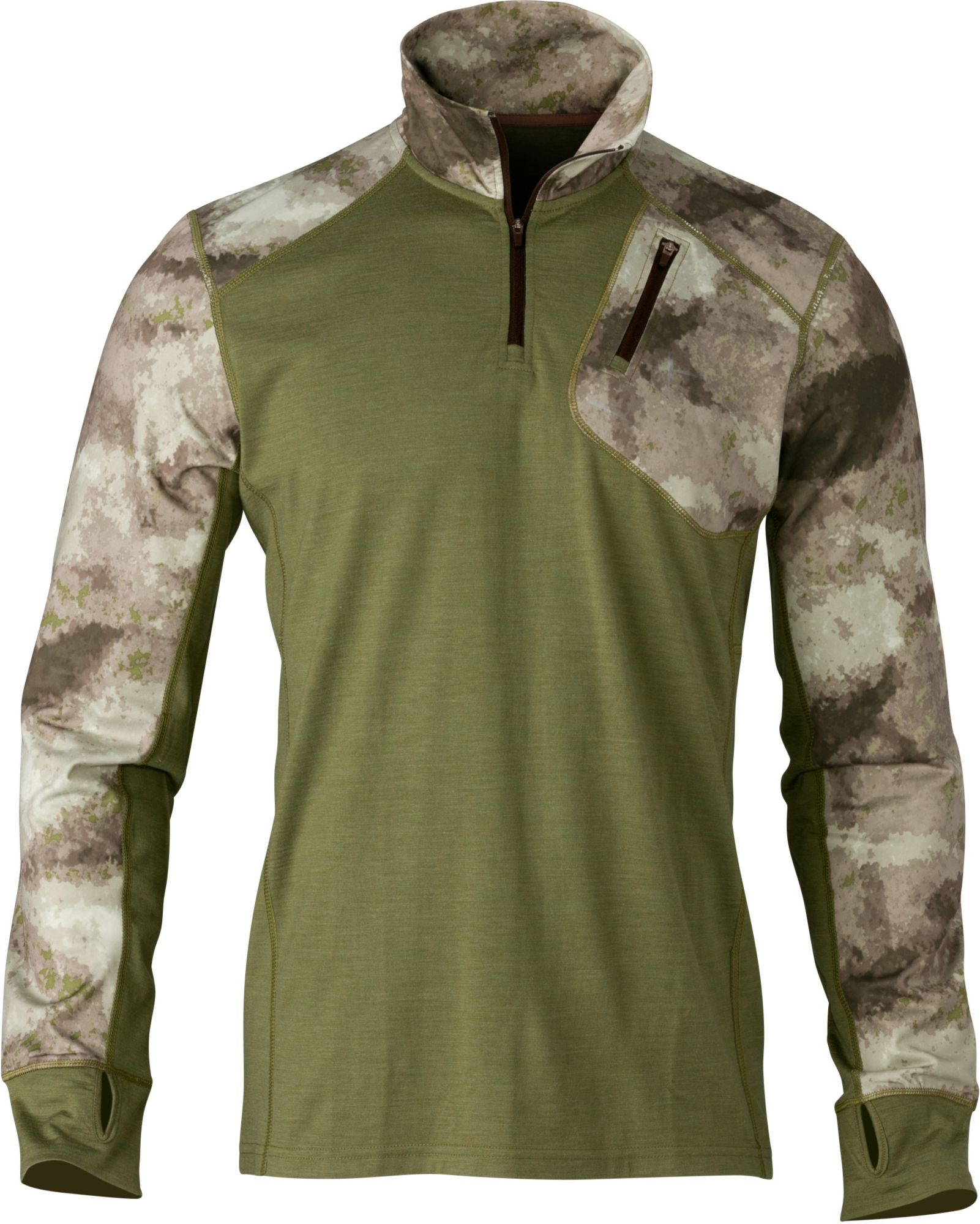 Browning Men's Hell's Canyon Speed MHS Quarter Zip Base Layer Shirt, Size: Large, A Tacs Au Camo thumbnail