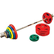 Body Solid 500 lb Bumper Set with Bar
