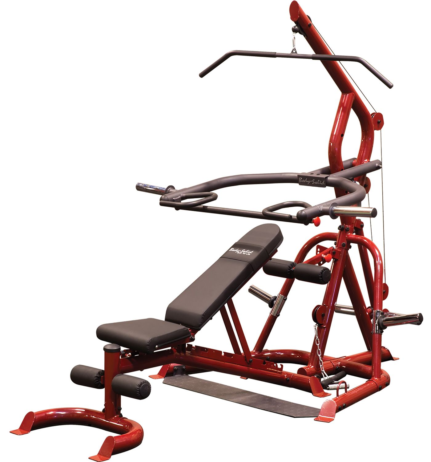Body Solid Corner Leverage Gym Package with Bench