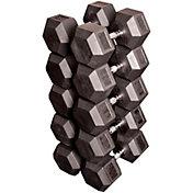 Body Solid Rubber Hex 80-100 lb Dumbbell Set