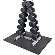 Body Solid GDR44 Premium Rubber Dumbbell Rack and Set