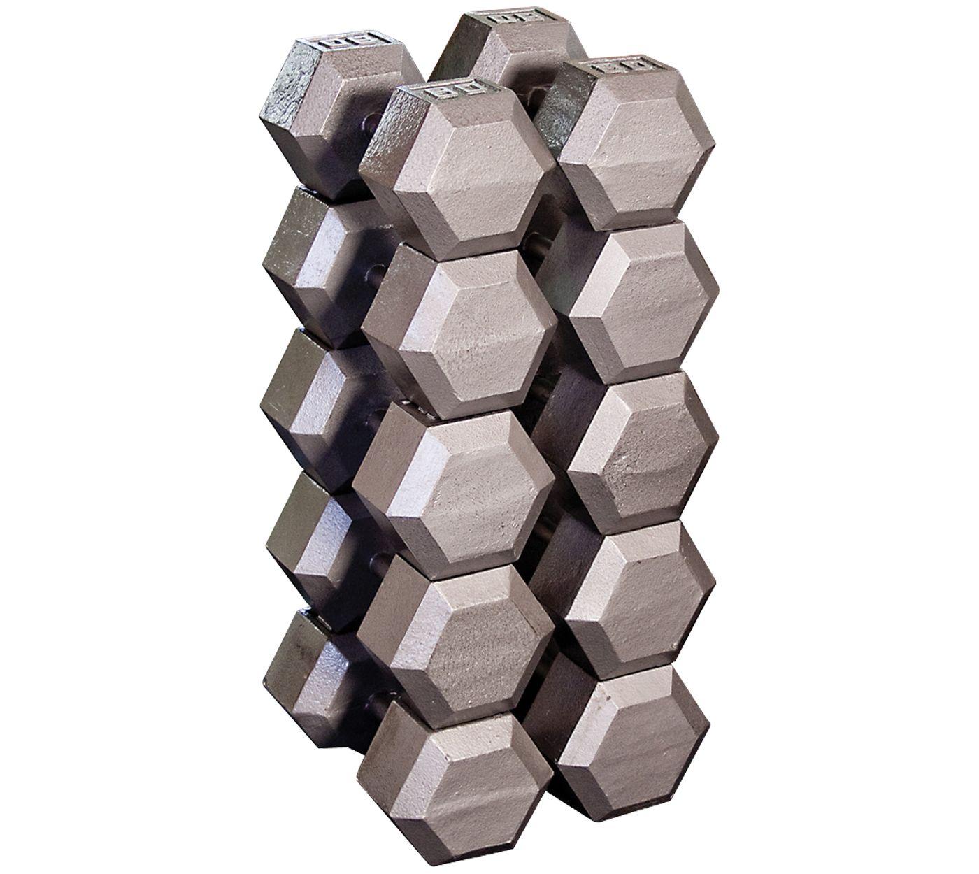 Body Solid Grey Hex 80-100 lb Dumbbell Set