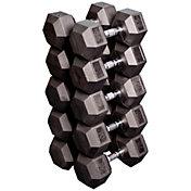 Body Solid Rubber Hex 55-75 lb Dumbbell Set