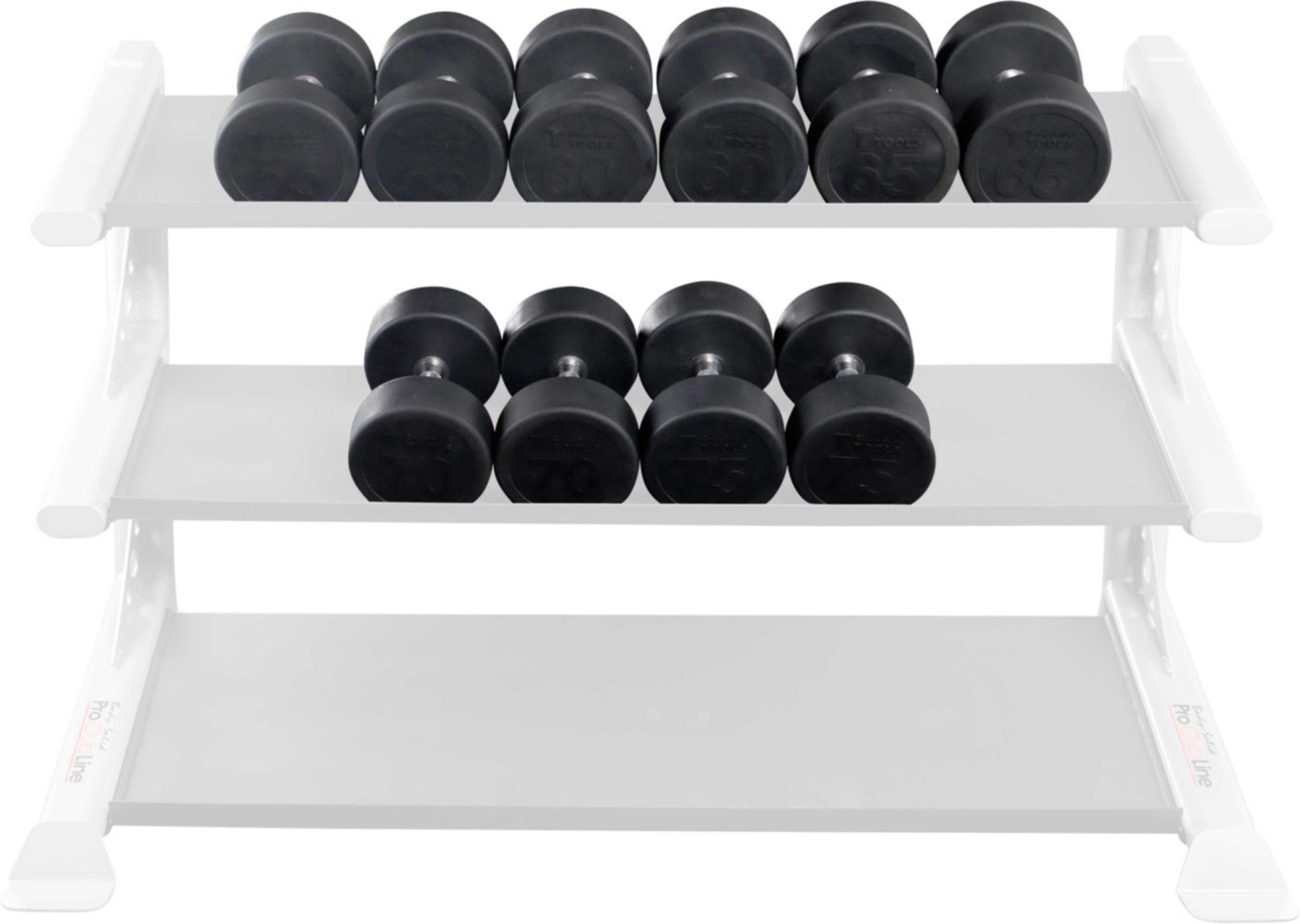 Body Solid SDPS650 Premium Rubber Dumbbell Set