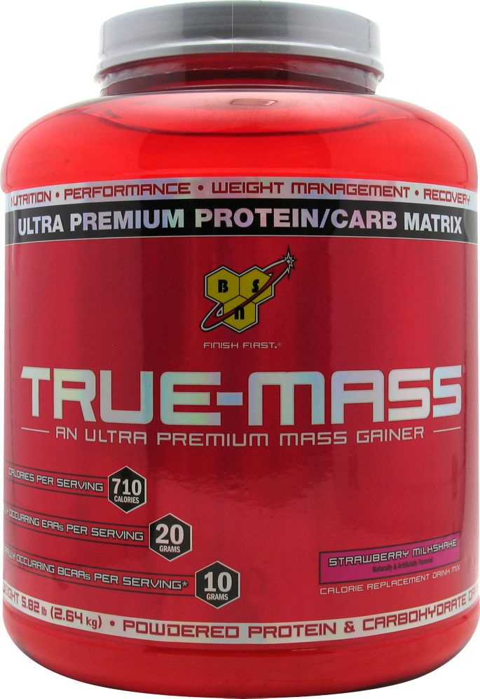 Lækker BSN True-Mass Protein Powder Strawberry 5.75 lbs | DICK'S Sporting FO-19